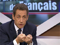 Nicolas Sarkozy(Photo: Reuters/TF1 Television)