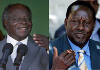 Kenyan President Mwai Kibaki (left) and ODM leader Raila Odinga(Photo: Reuters)