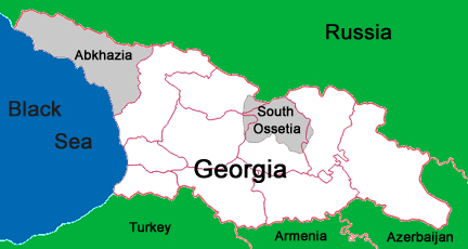 RFI A Mountainous Region Torn Between Georgia And Russia - South ossetia map