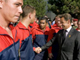 France's President Nicolas Sarkozy meets French soldiers of the 8eme RPIMa who were wounded in Afghanistan as he visits their headquarters in Castres, southern France 26 August 2008. Ten soldiers, of which eight were from the 8eme RPIMa, were killed in an ambush in Afghanistan in the biggest single loss for allied combat forces since the 2001 invasion.(Photo: Reuters)