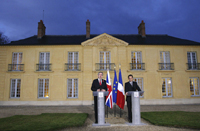 British PM Gordon Brown and French President Nicolas Sarkozy meet in Versailles in October(Photo: Reuters)
