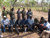 LRA peace delegation(Photo: Billie O'Kadameri)