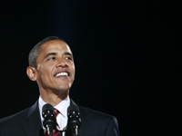 Barack Obama makes his acceptance speech.(Photo: Reuters)