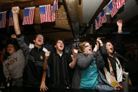 Obama supporters in Jerusalem react to the results of the US presidential election(Credit: Reuters)