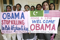 Students in Pakistan celebrate Obama's victory(Credit: Reuters)