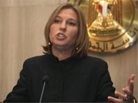 Israeli Foreign Minister Tzipi Livni speaks during a news conference in Cairo(Credit: Reuters)