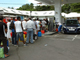People have been queuing at a petrol stations in Guadeloupe, where the general strike enters its 24th day Friday(Photo: Dominique Chemereau/AFP)