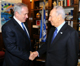 Peres (R) meets Netanyahu (R)(Photo: Reuters)