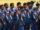 Indian cricketers observe a minute's silence(Photo: Reuters)