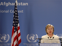U.S. Secretary of State Hillary Clinton speaks at a news briefing at the World Forum Conference Centre in the Hague March 31, 2009.(Photo: Reuters)