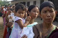 Villagers wait to vote in Tripura state(Photo: Reuters)