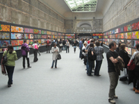 Art-lovers at the Grand Palais visiting the Tag exhibition