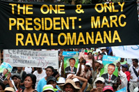 Followers of Madagascar's ex-President Marc Ravalomanana demonstrate in the streets of Antananarivo on 25 March 2009.(Photo: AFP)