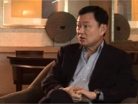 Thaksin Shinawattra talks to France 24 and RFI(Photo: France 24)