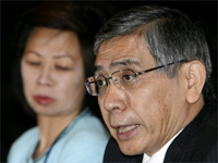 President of the ADB, Haruhiko Kuroda (R) in Nusa Dua, Bali island on 2 May 2009(Photo: Reuters)
