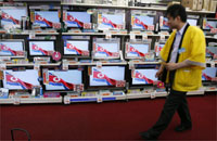 Televisions in Tokyo broadcast news of North Korea's nuclear test, 25 May 2009(Photo: Reuters)