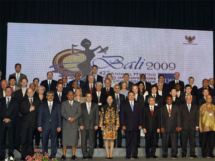 The delegates at the ADB annual meeting in Bali, Indonesia on 4 May 2009(Photo: Reuters)
