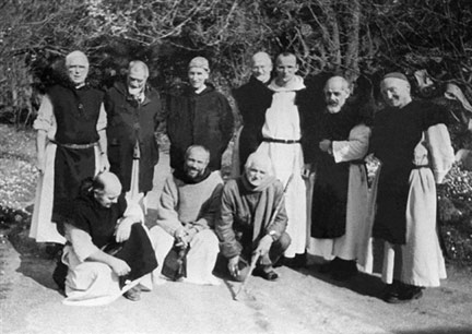 An undated photo features the seven Trappist monks from the monastery at Tibérihine in Algeria who were murdered in 1996(Photo : AFP)