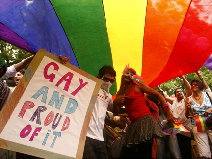A gay pride march in New Delhi on 28 June 2009(Photo: Reuters)