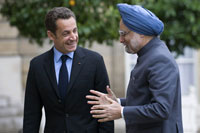 French President Nicolas Sarkozy will again host Indian Prime Minister Manmohan Singh