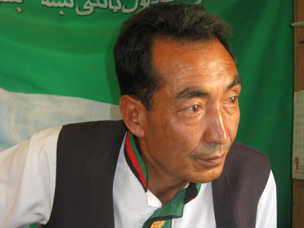 Afghan presidential candidate Ramzan Bashardost.(Photo: T. Cross)