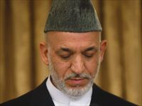 Afghan President Hamid Karzai in Kabul, 20 August 2009(Photo: Reuters)