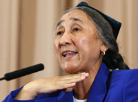 Exiled Uighur activist Rebiya Kadeer(Photo: Reuters)