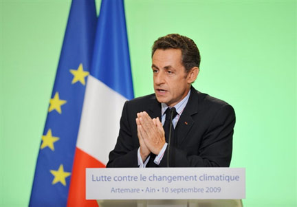 Nicolas Sarkozy in Artemare(Photo: AFP)