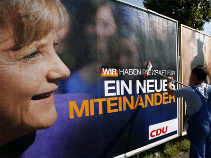 An election campaign poster of German Chancellor Angela Merkel(Photo: Reuters)