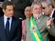 Brazilian President Luiz Inacio Lula da Silva talks to French President Nicolas Sarkozy in Brasilia on 7 September(Photo: Reuters)