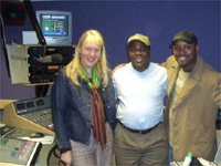 Adé (centre) & the KLLB band in the studio at New Style Radio, Birmingham(Photo: Afrobeat)