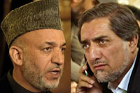 Hamid Karzai (L) and Abdullah Abdullah.(Photo: AFP)