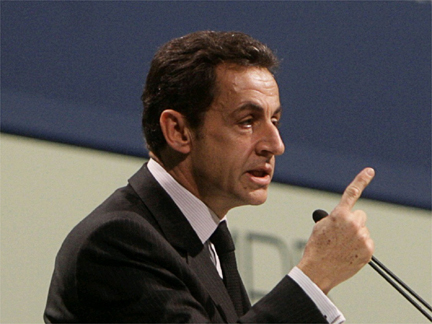 French President Nicolas Sarkozy at the Copenhagen climate change conference on 17 December(Photo: Reuters)