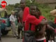 Angolan TV shows Togo players comforting each other after the attack on their bus on 8 January.Photo: Reuters
