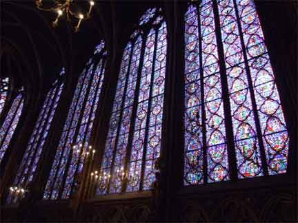 A stained glass window at the Sainte Chapelle(Photo: Tony Cross)