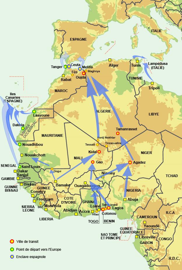 carte europe et afrique