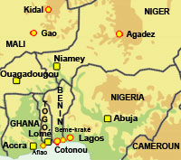 Carte Afrique Gao.Rfi Afrique Chemins Clandestins Vers L Europe Ghana