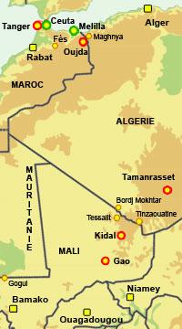 Carte Afrique Gao.Rfi Afrique Chemins Clandestins Vers L Europe Mali