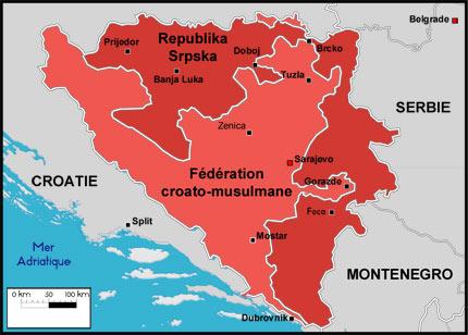 carte europe bosnie