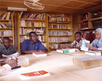 À l'université Abdou Moumouni de Niamey. 