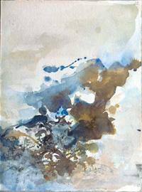 René Char, «Effilage du sac de jute», illustré par Zao Wou Ki, 1980, BnF, département des Manuscrits. © ADAGP