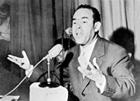 Mehdi Ben Barka, en 1959 à Casablanca.(Photo : AFP)
