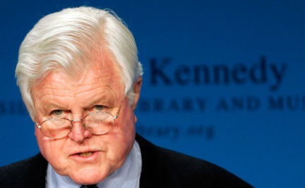 Le sénateur démocrate du Massachusetts Edward Kennedy, surnommé Ted, le 18 avril 2008 à Boston..(Photo : Reuters)