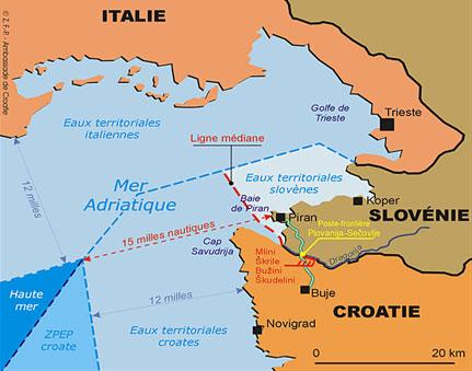 slovenie croatie carte - Image