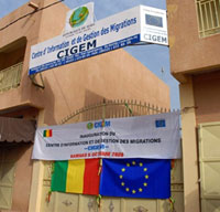 Le nouveau centre d'information sur l'immigration de Bamako, inauguré le 6 octobre. (Photo : AFP)