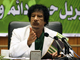 Le leader libyen, Mouammar Kadhafi à Syrte, en Libye, le 7 avril 2009. (Photo : Reuters)