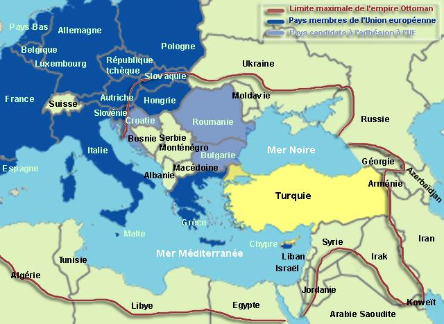 carte europe et asie