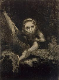 Caliban sur une branche, 1881Odilon Redon © Photo RMN / Gérard Blot
