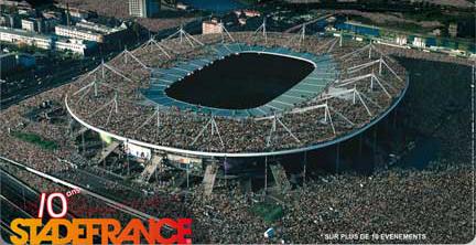 Rfi dix bougies pour le stade de france construit pour la coupe du monde de football 1998 - Johnny hallyday coupe du monde 2002 ...