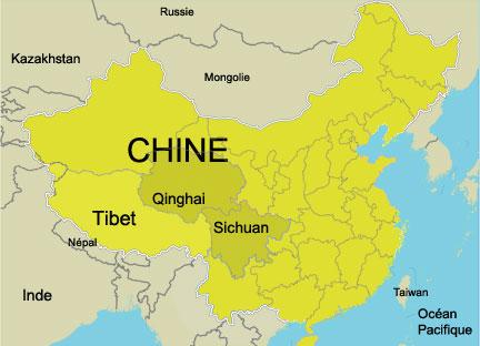 Carte Chine Avec Tibet.Rfi Tibet La Revolte Cachee
